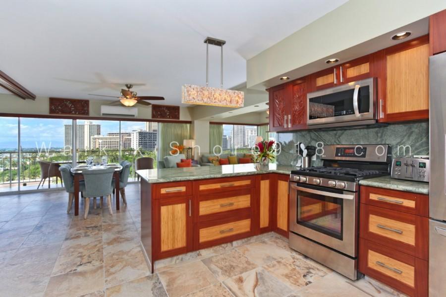 African Mahogany Kitchen Cabinets